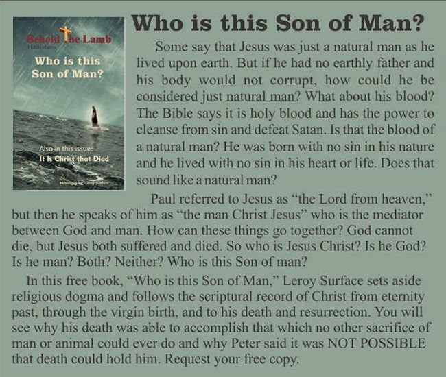 Who is this Son of Man?